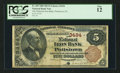 National Bank Notes:Pennsylvania, Pottstown, PA - $5 1882 Brown Back Fr. 469 The National Iron BankCh. # 3494. ...