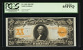 Large Size:Gold Certificates, Fr. 1186 $20 1906 Gold Certificate PCGS Gem New 65PPQ.. ...