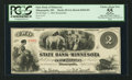 Obsoletes By State:Minnesota, Minneapolis, MN- The State Bank of Minnesota $2 Sep. 1, 1862Remainder G4 Hewitt B360-D2. ...