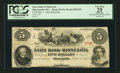 Obsoletes By State:Minnesota, Minneapolis, MN- The State Bank of Minnesota $5 Sep. 1, 1862Remainder G6 Hewitt B360-D5. ...