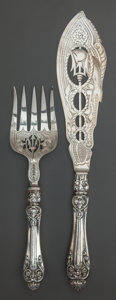 Other, A TWO PIECE ATKINS BROTHERS VICTORIAN SILVER FISH SERVING SET,Sheffield, England , circa 1868-1869. Marks: (lion passant), ...(Total: 2 Items)