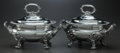 Other, A PAIR OF ENGLISH SILVER-PLATED COVERED SAUCE BOATS, circa 1900.6-1/2 x 8-1/2 x 5 inches (16.5 x 21.6 x 12.7 cm). From a ...(Total: 2 Items)