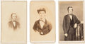 Photography:CDVs, [Mississippi Cavalry]. Confederate Andrew W. Metcalfe: Group of Three Cartes de Visite....