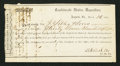 Confederate Notes:Group Lots, Interim Depository Receipt Augusta, GA- $3,700 March 26, 1864Tremmell GA-36. ...