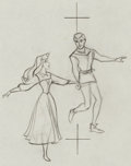 Animation Art:Production Drawing, Sleeping Beauty Briar Rose and Prince Phillip ProductionDrawing Animation Art (Walt Disney, 1959). ...