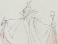 Animation Art:Production Drawing, Sleeping Beauty Maleficent Production Drawing Animation Art(Walt Disney, 1959). ...