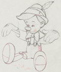 Animation Art:Production Drawing, Pinocchio Production Drawing Animation Art (Walt Disney,1940)....