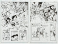 "Original Comic Art:Splash Pages, Steve Mannion Strange Fairy Tales ""The Day the Comic BookDied"" Splash Pages 19 and 21 Original Art Group (Big Hai... (Total:2 Original Art)"