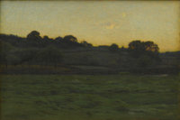 CHARLES HAROLD DAVIS (American 1856-1933) Landscape At Twighlight Oil on canvas 30 x 44in. (unframed) Signed lower l