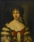 Fine Art - Painting, European:Antique  (Pre 1900), ENGLISH PORTRAIT, Early Nineteenth Century. Lady With RedBow. Oil on canvas. 28 x 24in. (unframed). Unsigned.Park-Bern...