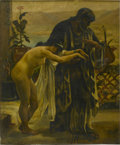 Fine Art - Painting, American:Antique  (Pre 1900), UNKNOWN ARTIST. Orientalist Slave Woman. Oil on canvas. 22 x18in. (unframed). Unsigned. ...