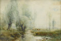 Fine Art - Painting, American:Antique  (Pre 1900), ARTHUR PARTON (American 1842-1914). Landscape With Cattle.Watercolor on paper. 14.5 x 21.25in. (unframed). Signed lower...