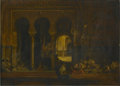 Fine Art - Painting, European:Antique  (Pre 1900), JEAN JOSEPH BENJAMIN-CONSTANT (French 1845-1902). Harem Scene,Five Women, Circa 1890. Oil on canvas. 15 x 21in. (unfram...