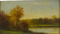 Fine Art - Painting, American:Antique  (Pre 1900), W. WEBBER. Two Men With Boat, 1874. Oil on paper. 8 x 14in.(unframed). Signed and dated lower left. ...