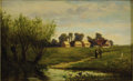 Fine Art - Painting, American:Antique  (Pre 1900), FRANK HENRY SHAPLEIGH (American 1842-1906). At Kenilworth.Oil on canvas. 14 x 24in. (unframed). Signed lower right. Si...