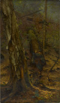 Fine Art - Painting, American:Antique  (Pre 1900), CARLETON WIGGINS and AF TAIT (American, 1848-1932 and 1819-1905).An Adirondack Forest. Oil on canvas. 20 x 12in. (unfra...