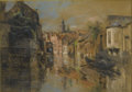 Paintings, LEON AUGUSTIN LHERMITTE (French 1844-1925). View of Ghent. Pastel on paper. 12 x 17in. (unframed). Signed and dated lowe... (Total: 1 Item Item)