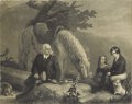 Prints:European Modern, TWO VICTORIAN PRINTS. Botany Lesson and CourtingScene. Print. 6.5 x 7in. (each, unframed). Unsigned. ...(Total: 2 Items)