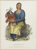 American:Portrait & Genre, THOMAS L. MCKENNEY and JAMES L. HALL. A Chippeway Widow.Hand-colored stone lithograph. From the folio edition of The...