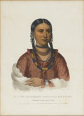 American:Portrait & Genre, THOMAS L. MCKENNEY and JAMES L. HALL. Hayne Hudjihini Eagle orDelight. Hand-colored stone lithograph. From the folio ed...