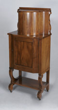 Furniture , THE EMPIRE REVIVAL MAHOGANY BAR. Circa 1900. The mahogany bar with fitted top compartment, inset brass bottom and fitted b... (Total: 1 Item Item)