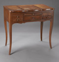 Furniture : American, AN AMERICAN 'BONHEUR DU JOUR' VANITY TABLE. Nineteenth Century. The'bona di jure' oak vanity table with mahogany herringb...