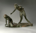 Bronze:American, UNKNOWN ARTIST. Satyr and Mermaid. Bronze (Roman BronzeWorks, NY). 20in. high x 26in. long x 12in. deep. Foudary mark t...