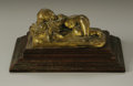Bronze:American, Property of Other Owners. UNKNOWN ARTIST. Sleeping Baby.Gilt bronze. 1.5in. x 4.5in. x 2.5in.. ...