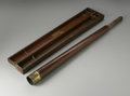 Other:American, A TELESCOPE IN WOODEN CASE. The antique telescope in wooden casewith removable lense, original case with manufacture's la...