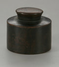 Other:American, A TREENWARE INK WELL. The cylindrical body ink well with screw cap,unmarked. 2in. high. ...