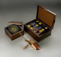 Other:American, A GROUPING OF ITEMS INCLUDING AN ANTIQUE NAVIGATION COMPASS.Various makers. The group comprising of a box containing a mo...(Total: 3 Items)