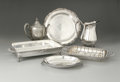 Other:European, A Group Of Silver-Plate Serving Dishes, Teapot And Pitcher. Variousmakers, Early Twentieth Century. Comprising two re... (Total: 5Items)