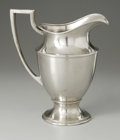 Other:American, AN AMERICAN NICKEL SILVER PITCHER. Apollo Silver Co., New York, NY,Twentieth Century. The simple form nickel silver p...