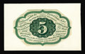 Fractional Currency:First Issue, Milton 1E5R.3 5¢ First Issue Proof Printed in Green Gem New. Thispiece is unlisted in the Encyclopedia, as its existence wa...