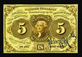 Fractional Currency:First Issue, Fr. 1231SP 5¢ First Issue Courtesy Autograph Gem New. This pristineNarrow Margin Specimen bears the courtesy autograph of J...