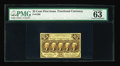 Fractional Currency:First Issue, Fr. 1280 25¢ First Issue PMG Choice Uncirculated 63. A richly colored perforated example of the no monogram variety that wou...