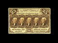 Fractional Currency:First Issue, Fr. 1280 25c First Issue Choice About New. Perforations are found on all four sides of this scarce note that carries chocola...