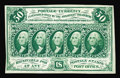 Fractional Currency:First Issue, Fr. 1313 50c First Issue New. An overall pleasing example of this very scarce, straight-edge no monogram 50c note. Unfortuna...