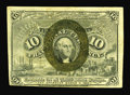 Fractional Currency:Second Issue, Fr. 1244 10c Second Issue About New. Back plate number 161 is viewed in the upper left-hand corner of this note that has its...