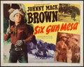 "Movie Posters:Western, Six Gun Mesa (Monogram, 1949). Half Sheet (22"" X 28""). Western.. ..."