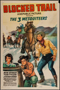 "Movie Posters:Western, Blocked Trail (Republic, 1943). One Sheet (27"" X 41""). Western.. ..."