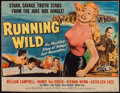 "Movie Posters:Bad Girl, Running Wild (Universal International, 1955). Trimmed Half Sheet(20"" X 25.25"") Style B. Bad Girl.. ..."
