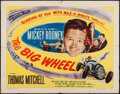 "Movie Posters:Sports, The Big Wheel (United Artists, 1949). Half Sheet (22"" X 28"") Style A. Sports.. ..."