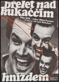 "Movie Posters:Academy Award Winners, One Flew Over the Cuckoo's Nest (Ustredni Pujcovna Filmu, 1990).First Release Czech A3 (11"" X 15.5""). Academy Award Winners..."