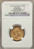 German States:Bavaria, German States: Bavaria. Ludwig II gold 20 Mark 1873-D XF Details(Mount Removed) NGC,...