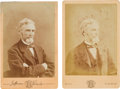 Photography:Cabinet Photos, Two Jefferson Davis Cabinet Cards.... (Total: 2 )