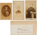Photography:CDVs, Confederate Rear Admiral Raphael Semmes Cartes de Visite (Three) and Excised Signature.... (Total: 4 )