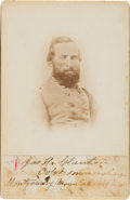 Photography:Cabinet Photos, Confederate General James Holt Clanton Cabinet Card with ClippedSignature....