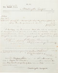 Autographs:Military Figures, Confederate Cavalry Colonel Turner Ashby Document Signed,...