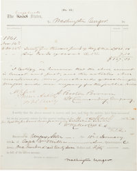 Confederate Cavalry Colonel Turner Ashby Document Signed